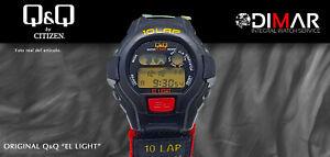 Vintage Watch Q&Q The Light. 9928, Wr 5m. Lap Memory 10. (L104-004)