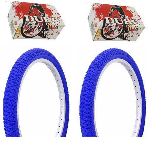 "Bicycle Duro Bicycle Bike Tires /& Tubes 20/"" x 1.95/"" Blue Side Bike Tire 1PAIR"