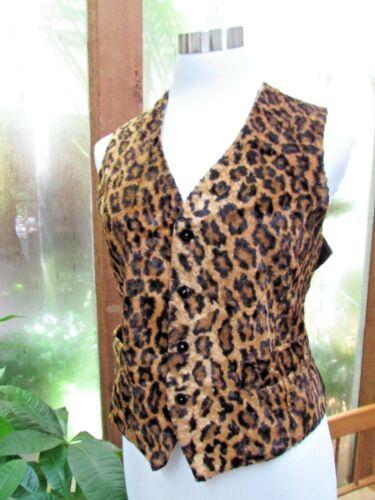 RARE Vtg Leopard TODD OLDHAM Dress Top VEST S M fu