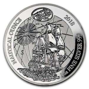 Ruanda-50-Francs-1-oz-Silber-Nautical-Ounce-Endeavour-2018-Proof-PP-Auflage-1000