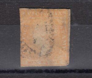 Victoria-State-QV-1854-6d-Dull-Orange-Woodblock-SG32a-Used-J6120