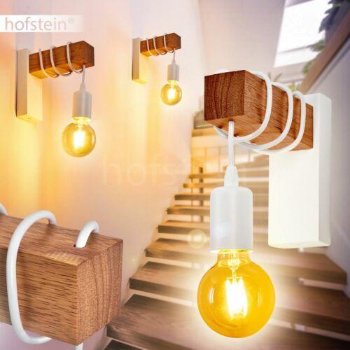 Retro Flur Dielen Strahler Wand Leuchte Wohn Schlaf Zimmer Lampen Edelstahl-Holz