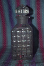 Vintage Spice Jar/Apothecary Jar - Cut Crystal and Square - Stunning