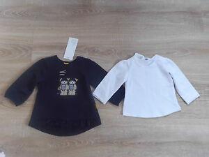 Shirt-1-1-Arm-T-Shirt-1-1-Arm-2er-Pack-fuer-Maedchen-Gr-56