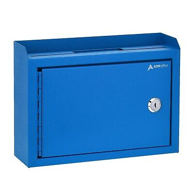 AdirOffice Steel Red Drop Box Wall Mountable Envelope Cash Mail Suggestions