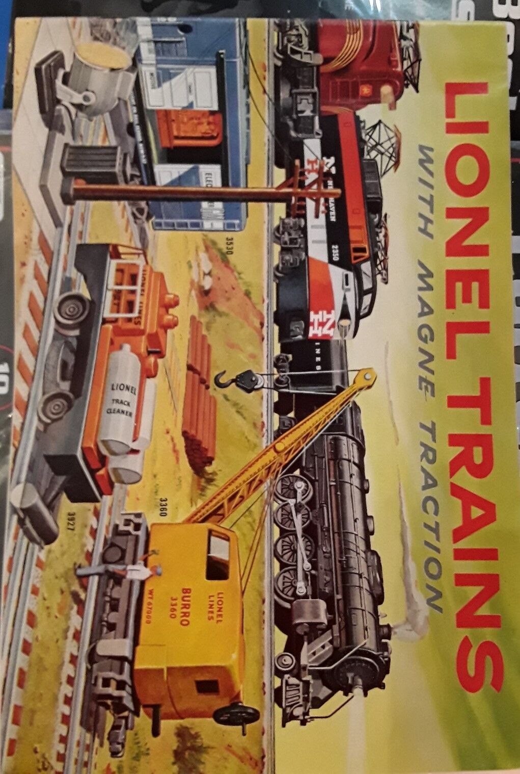 Lionel Trains with magne traction Catalog 1956 full color good condition Vintage