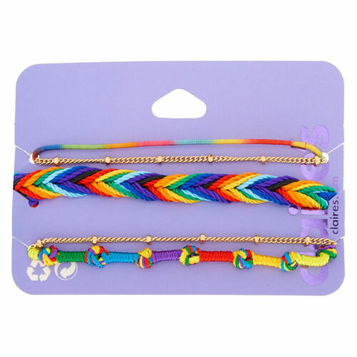 Claire/'s fille Rainbow Daze bracelets-Pack de 5
