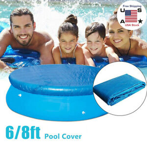 6FT 8FT Round Above Ground Winter Swimming Pool Cover Protector Blue USA STOCK
