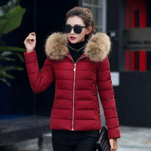 Women Winter Hooded Slim Thicker Down Jacket Coat Overcoat Casual Warm Outwear