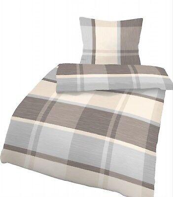 StoßFest Und Antimagnetisch 4 Tlg Bettwäsche 155x220 Cm Beige Biber Baumwolle B-ware 2 Garnituren Wasserdicht Bettwaren, -wäsche & Matratzen Bettwäsche