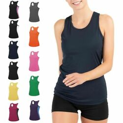 Damen Tank Top Sport Shirt Fitness Trägershirt Sommer Tops Basic Tanktop T-Shirt