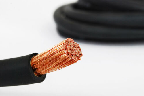 WELDING CABLE 2 AWG 40/' 20/'BLACK 20/'RED FT BATTERY LEADS USA Gauge Copper AWG