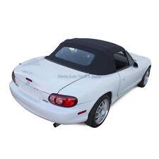 Miata Convertible Top 90 05 Black Cabrio Vinyl Non Zippered Glass Window Fits Mazda Miata