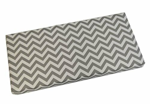 "White Gray Chevron 3/"" Thick Foam Swing//Bench Cushion In//Outdoor Choose Size"