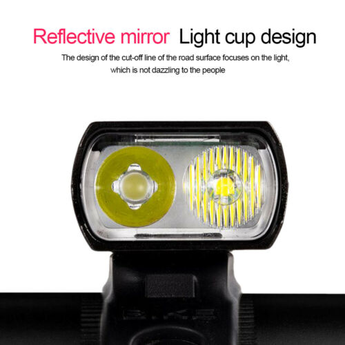 USB Rechargeable 3000Lumens Bike Front Light Road MTB Cycling Headlamp Headlight