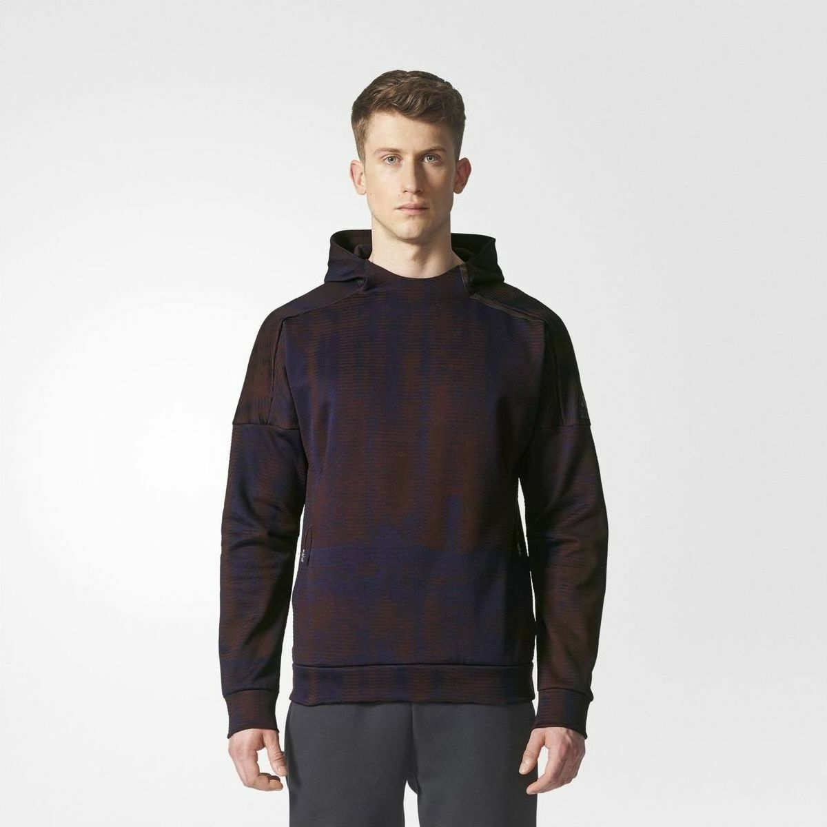 Adidas  Z.N.E Pulse Jacquard Winter Hoodie BQ7054 Running Walking Jogging Gym (M)  new exclusive high-end