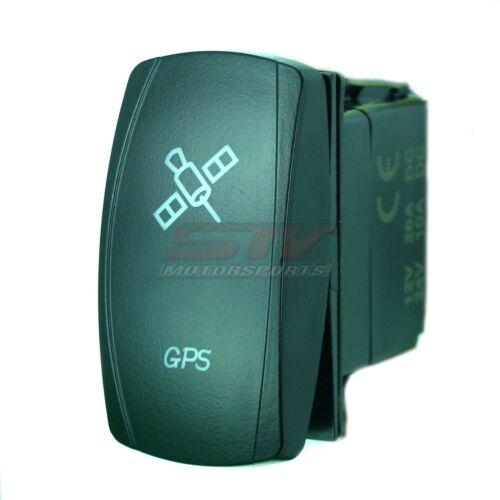 BLUE DUAL LED BACKLIT ROCKER SWITCH LASER ETCHED 20A 12V GPS TRUCK