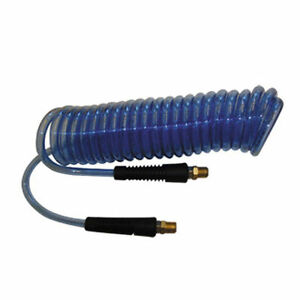 Sprayer and Industrial use 25FT Blue Recoil Hose Heavy Duty Recoil Air Hose Air Line OD 3//8 Inch Portable Polyurethane Coil Hose with 1//4 Inch Quick Fittings for Air Compressor