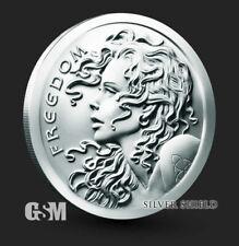 2020 Freedom Girl Silver Shield Silver Round Coin 1 oz .999 Fine SilverBACKORDER