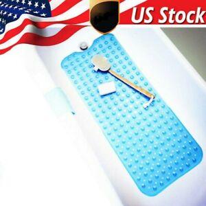 US Bath Tub Mat Anti Slip Bathroom Shower Bathtub Antibacterial Blue//Transparent