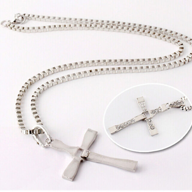 Fashion Unisex's Men Gold/Silver Stainless Steel Cross Pendant Necklace Chain