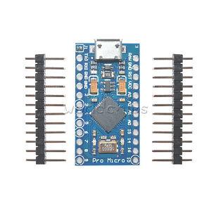5Pcs Leonardo Pro Micro ATmega32U4 16MHz 5V  Replace ATmega328 Arduino Pro Mini