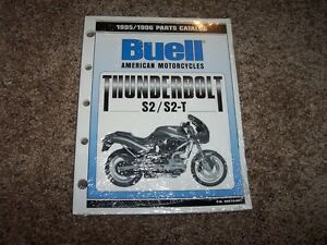 1995 1996 Buell Thunderbolt S2 S2T Motorcycle Parts Catalog Manual 99570-96Y