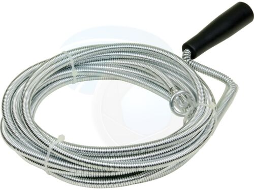 Plastic Grip 5M 16Feet Snake Spring Pipe Rod Sink Drain Cleaner Wire