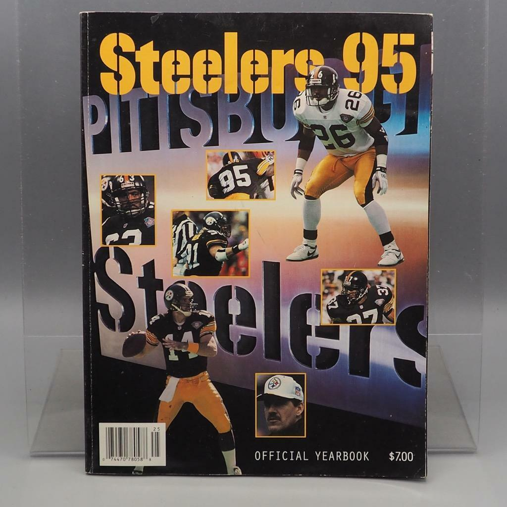805f5f598f2c2 Vintage Pittsburgh Pittsburgh Pittsburgh Steelers 1995 Media Guide Yearbook  Program Libro NFL Fútbol 83e18a