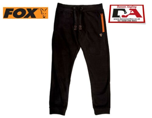 Fox Black /& Orange Joggers *New* All Sizes Carp Fishing Clothing