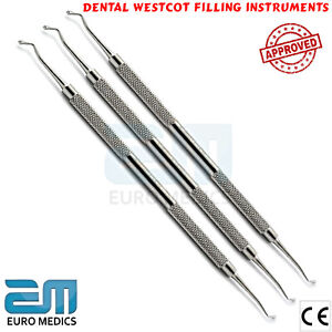 Dental-Dental-Westcot-Amalgam-Cavities-Composite-Restorative-Tool-Steel-Set-Of-3