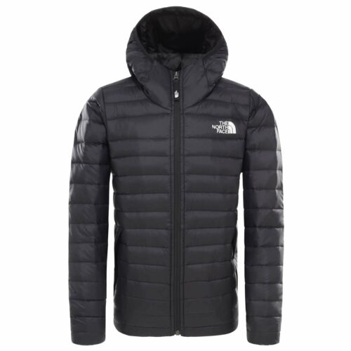 Black The North Face Boys Aconcagua Down Hoodie Jacket