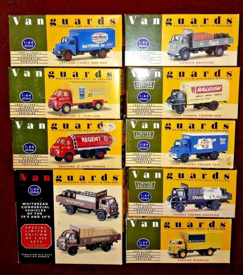 10 boxed Vanguards Vehicles New and boxed