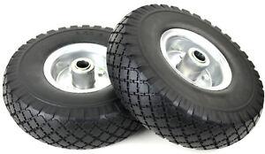 2x PU Rad Nr.16 Rad Vollgummirad Metall Felge 260 x 85mm /3.00-4 PU Ersatzrad