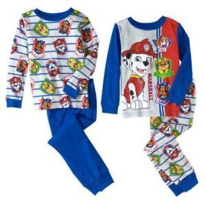 fbd3e18433 Nickelodeon Paw Patrol 4 PC Long Sleeve Tight Fit Cotton Pajama Set ...