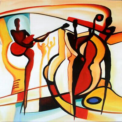 "Modern Art The Last Dance 32X32 /"" Oil Painting"