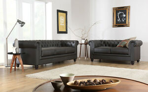 Superieur Image Is Loading Hampton Brown Leather Chesterfield Sofas