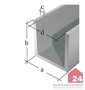 gah alberts u profil aluminium edelstahl silberfarbig eloxiert alu aluprofil neu ebay. Black Bedroom Furniture Sets. Home Design Ideas