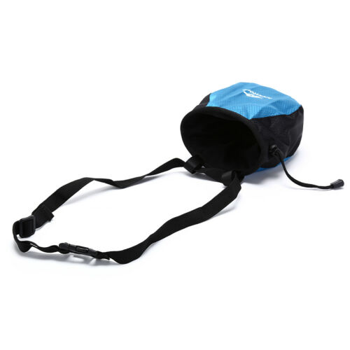 Chalk Bag Storage Pouch for Climbing with Drawstring and Adjustable Waist Bel ed