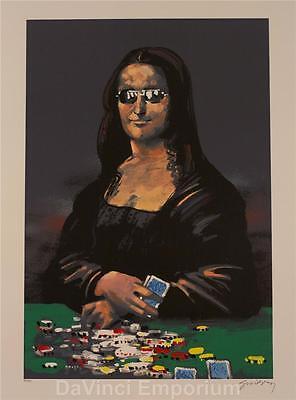 Waldemar Swierzy Poker Face Hand Signed Fine Art Lithograph S2 Mona Lisa Style