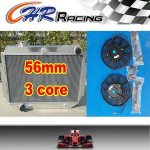 3-ROW-Aluminum-RADIATOR-for-Holden-TORANA-HQ-HJ-HX-HZ-Kingswood-V8-2-fans