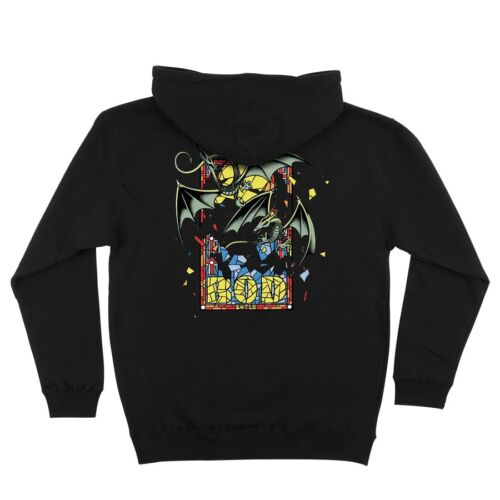 Details about  /Santa Cruz Bod Boyle STAINED GLASS PULLOVER Skateboard Hoodie BLACK LARGE