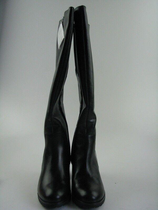 Geox Damen Schuhe Stiefel Schwarz Glattleder mit hohem Schaft Gr. 37