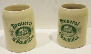 2-Old-Beer-Mugs-034-Brewery-G-Bauhofer-034-16-9oz-W-Mountian