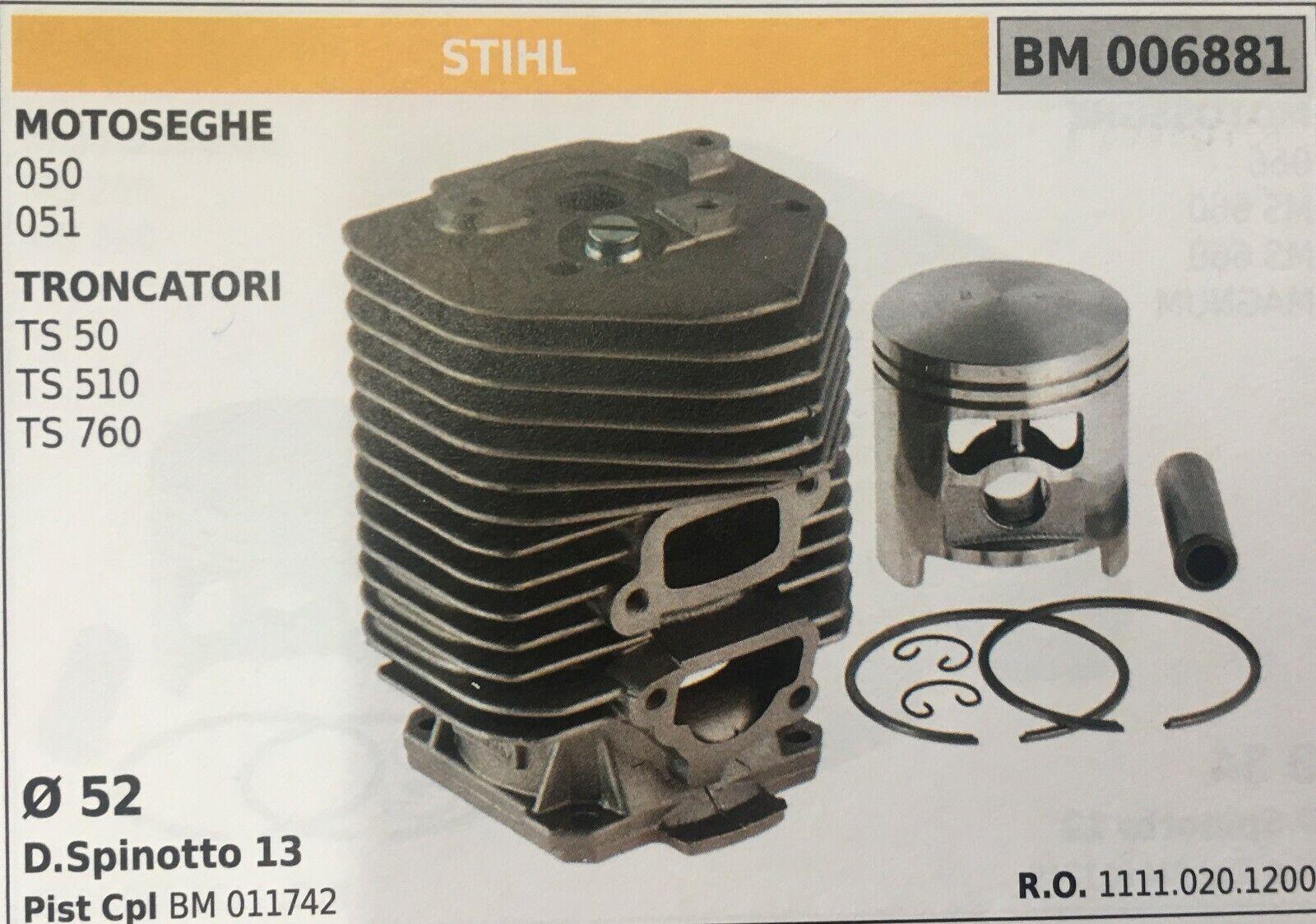 Cilindro Completo por Pistón y Segmentos Brumar BM006881 Stihl