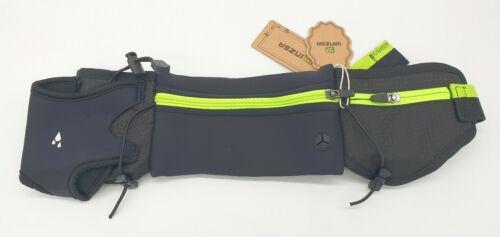 Winzsa Running Belt With Bottle Holder Hiking Walking Bum Bag Black Phone Pocket