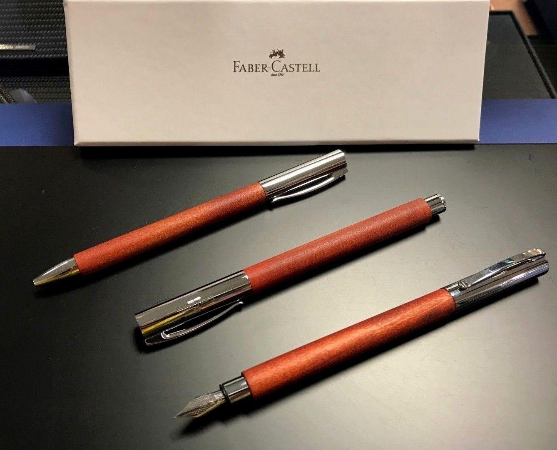 Faber-Castell Ambition Birnbaum Füllhalter M Tintenroller Kugelschreiber   Neuheit Spielzeug