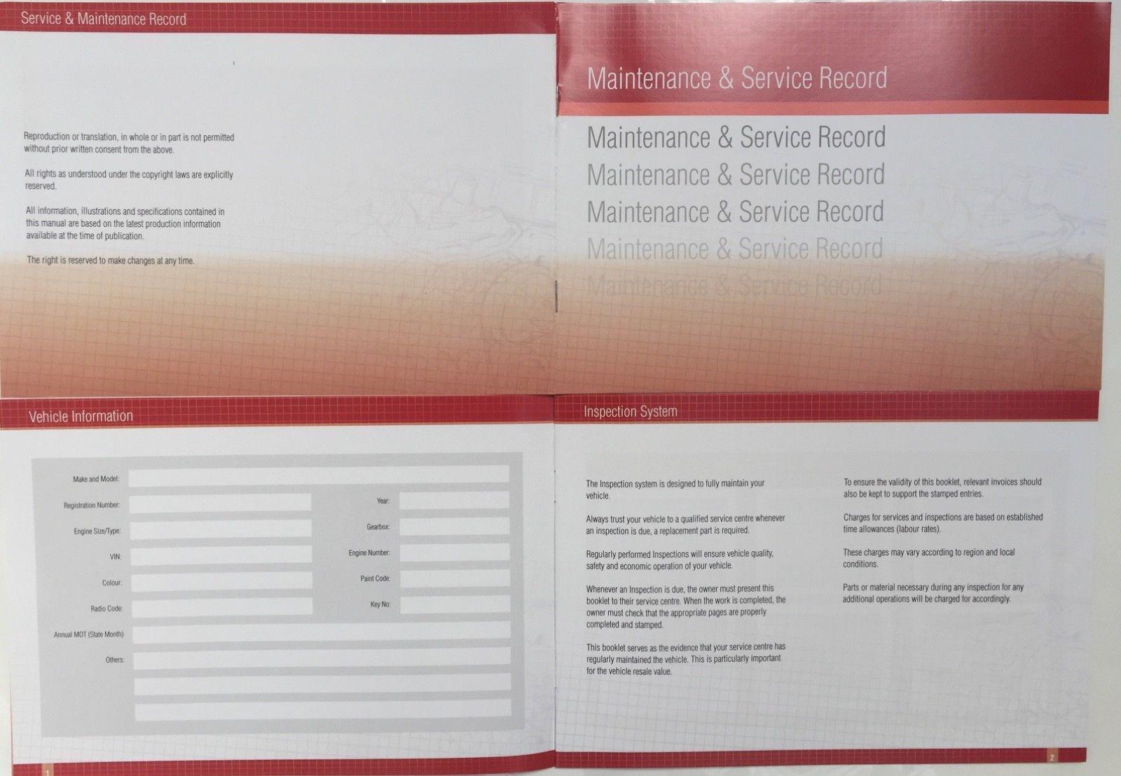 Anleitungen & Handbcher Saab Generic Replacement Car Service ...