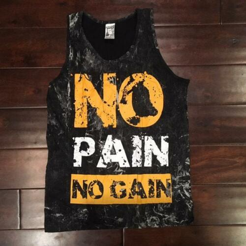 No Pain No Gain Vintage Stone Wash Tank Top