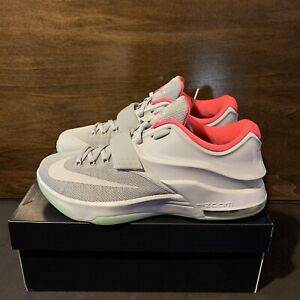 """sports shoes ad035 add08 Details about NIKE ID KD 7 Kevin Durant """"Yeezy"""" Grey Pink Glow In Dark  Green Mens SIze 10"""